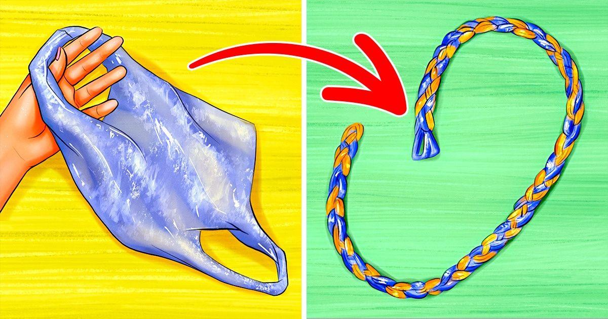Как сплести веревку из полиэтиленовых пакетов